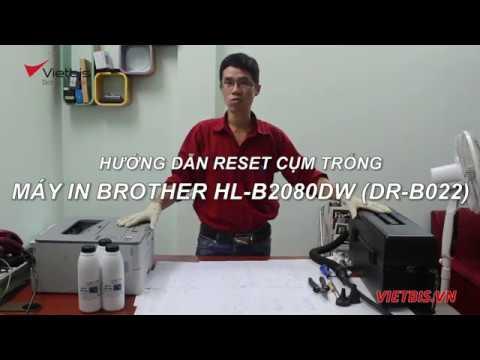 Cách reset cụm trống Brother DR-B022