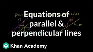 Equations of parallel and perpendicular lines | Analytic geometry | Geometry | Khan Academy