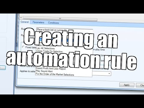 Creating an automation rule in Bet Angel