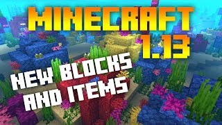 •Minecraft 1.13: NEW ITEMS AND BLOCKS REVIEW! (MC 1.13 NEWS)•