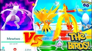 IT'S TIME! MEWTWO vs THE LEGENDARY BIRDS! Today we take our new Legendary Mewtwo up against Articuno, Moltres, and Zapdos in Pokémon Go! We've been holding off using the Mewtwo in Pokémon Go but now, we're bringing it out full force! Enjoy today's videoGET YOUR M7 MERCH HERE: https://teespring.com/stores/mystic7FOLLOW ME:Instagram -  https://www.instagram.com/btubehwd/Twitter -  https://twitter.com/MYSTIC7Snapchat - btubehwdMusic By:Dj Quads https://soundcloud.com/aka-dj-quadsContact Email -  mystic7business@gmail.comBusiness inquiries ONLY - theoriginalmystic7@gmail.com