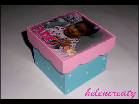 Como Pintar Una Caja Para Souvenir/ How To Paint A Souvenir Box  By Helencreaty