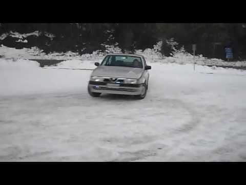 con l'alfa 75 twin spark sulla neve!!