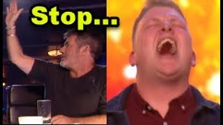 "Video Simon HALTS Nervous Singer but then GOLDEN BUZZER ""Happens""? ... Britain's Got Talent 2018 MP3, 3GP, MP4, WEBM, AVI, FLV Maret 2019"