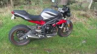 9. 2013 Triumph Street Triple R with R&G Tail Tidy Installed, Quick Review