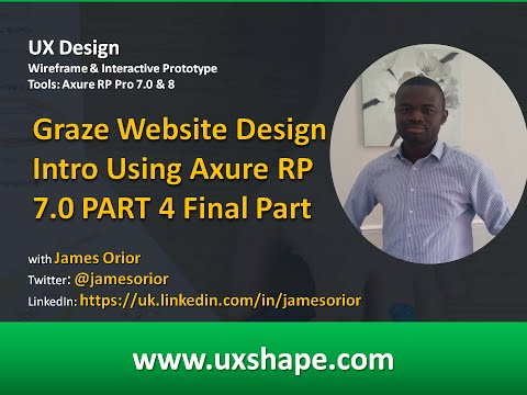 Graze Website Design Using Axure RP 7 0 PART 4 FINAL PART