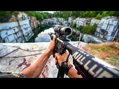 HOG Hunting an ABANDONED QUARRY: Catch 'N Cook (THERMAL FOOTAGE!!)
