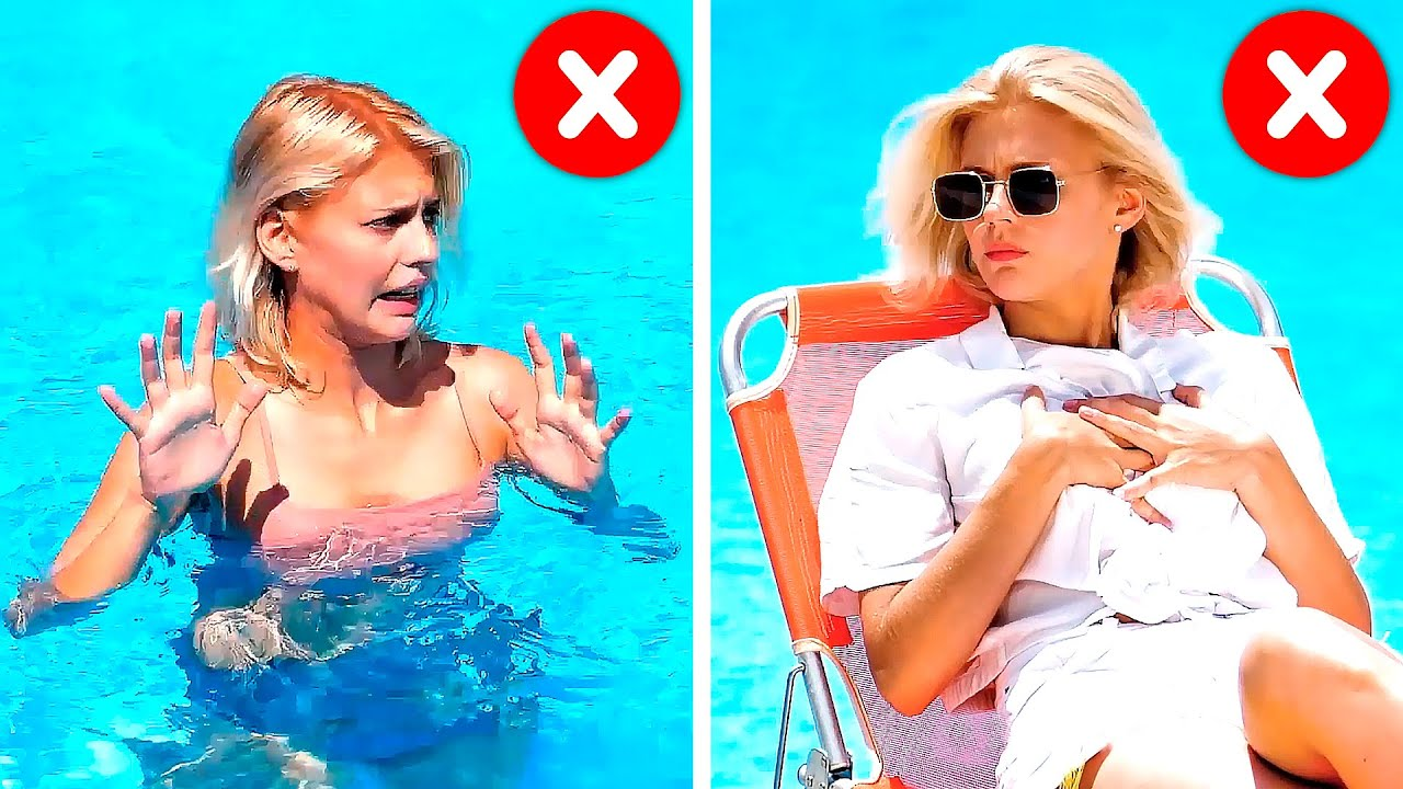 37 MUST-KNOW BEACH DAY HACKS - YouTube