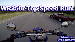 6. Yamaha WR250r Top Speed Run - Highway Review | MotoVlog