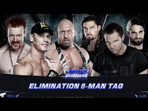 WWE Smackdown Johncena Sheamus & Ryback Vs The Shield HD