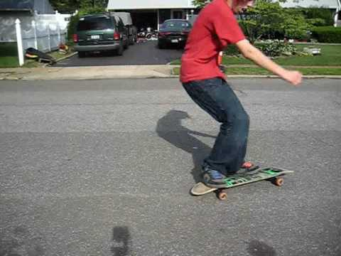RobbySkateboard - This is so much harder than regular skating. it looked so much easier so i give props to RobbySkateboard.