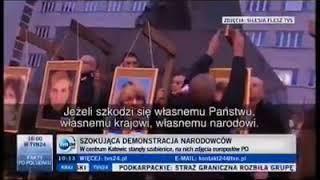 NO I CO PANIE BŁASZCZAK? Nagranie z dźwiękiem protestu narodowców w Katowicach.