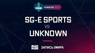 SG-e Sports vs Unknown, ESL One Hamburg 2017, game 1 [Mortales]