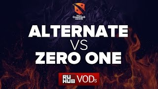Alternate Attax vs Zero One, game 1