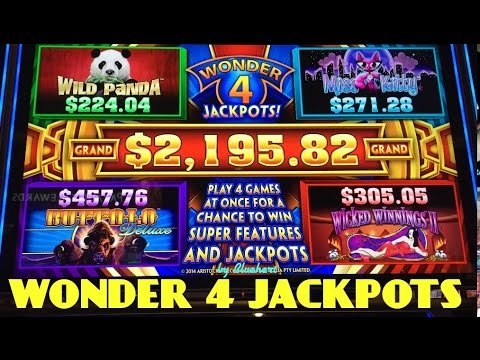 WONDER 4 JACKPOTS slot machine LIVE PLAY/ 5 BONUSES/ PROGRESSIVE WIN!