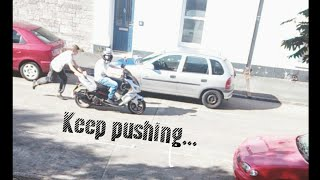 Download Lagu How to Bump start a moped funny Mp3
