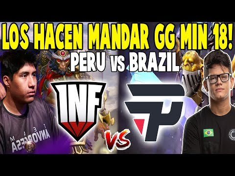 "INFAMOUS Vs PAIN [GAME 1] - Mandan GG Min 18! ""Perú Vs Brasil"" - THE INTERNATIONAL 2019 DOTA 2"