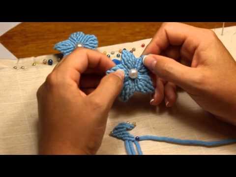 come creare un fiore in macramè