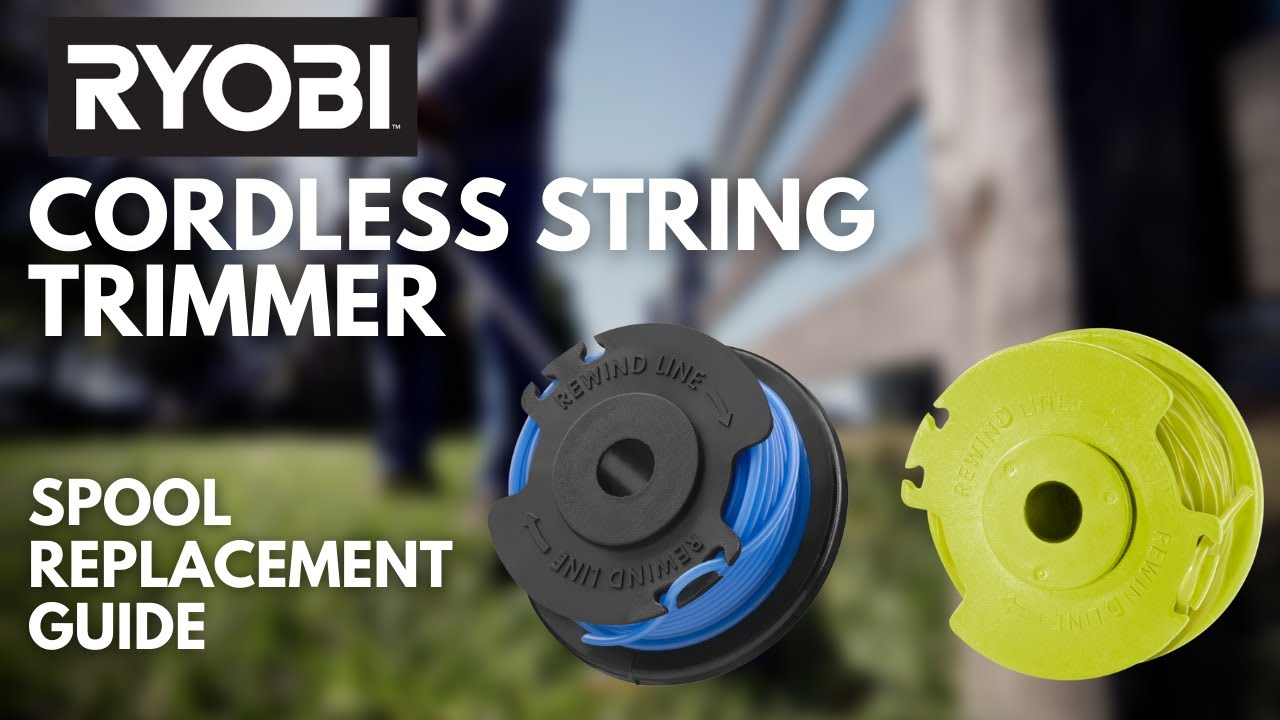 How To Replace The Spool On A Cordless Trimmer Ryobi