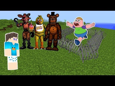 OS ANIMATRONICS SEQUESTRARAM O CLARÊNCIO NO MINECRAFT !