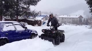 4. Polaris Sportsman 800 EFI Glacier Snow Plow