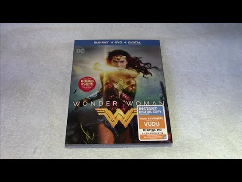Wonder Woman (2017) Blu-ray Unboxing