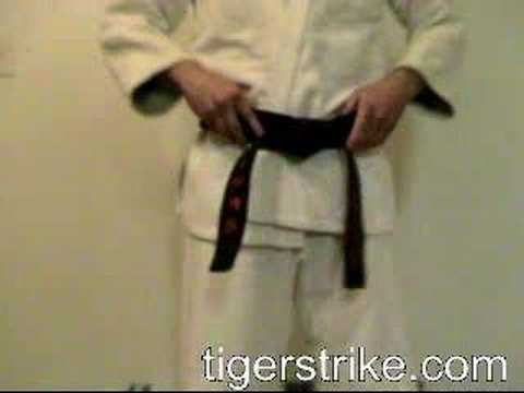 how to tie a kyuki-do belt