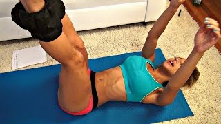 Girls Stomach Toning Workout using Ankle Weights! - YouTube