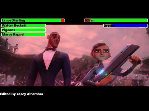 Spies in Disguise (2019) Final Battle with healthbars 1/2