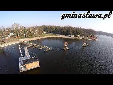 Wideo1: Remont Molo w Sławie inspekcja nad jeziorem