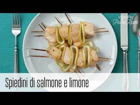 spiedini di salmone e limone - ricetta