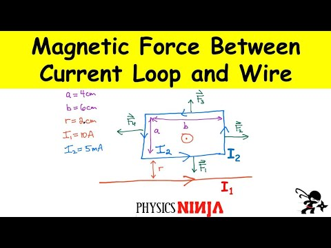 Magnetic Force Between A Current Loop And A Wire