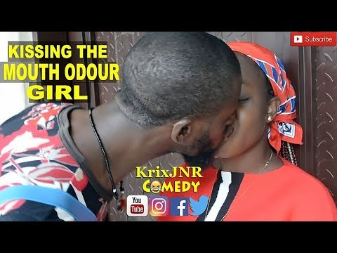 KISSING THE MOUTH ODOUR GIRL  (KrixJNR comedy)