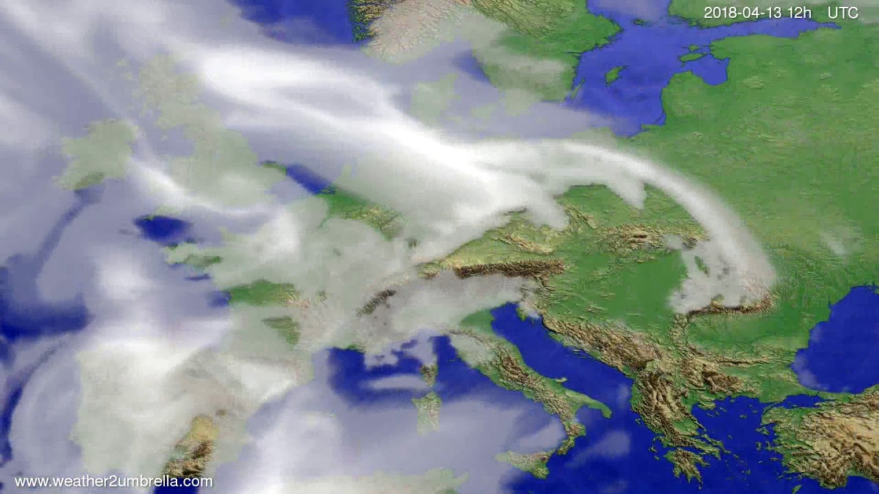 Cloud forecast Europe 2018-04-09
