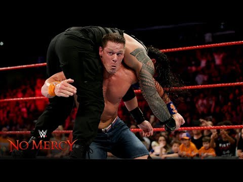 Download Video John Cena Blasts Roman Reigns With An Attitude Adjustment: WWE No Mercy 2017