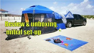 2018 E Z UP Dome Instant Shelter Canopy, 10 by 10 unboxing, initial set up and review