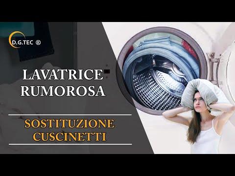 Lavatrice Rex Electrolux Aeg rumorosa - Riparazione con sostituzione cuscinetti