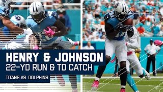 Derrick Henry's TD Run Leads to Andre Johnson's TD Grab! | Titans vs. Dolphins | NFL by NFL