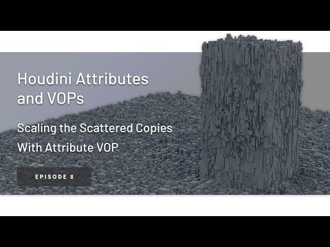 Scaling the Scattered Copies with VOPs – Houdini Attributes and VOPs ep. 8