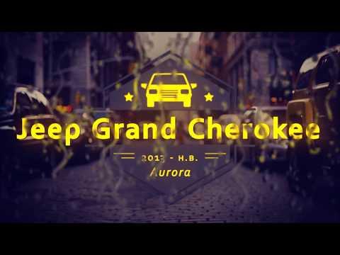 """Чехлы на Grand Cherokee, серии """"Aurora"""" - серая строчка"""