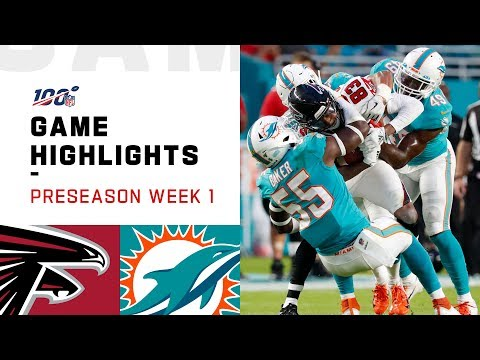Falcons vs. Dolphins Preseason Week 1 Highlights | NFL 2019