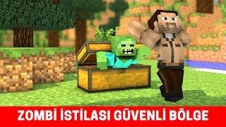 ZOMBİ İSTİLASI #7 - İlker Güvenli Bölgeye Ulaştı (Minecraft)