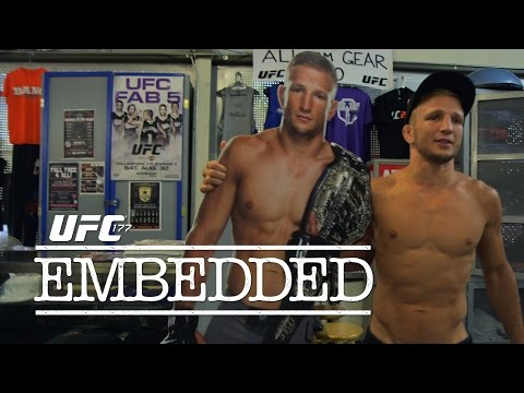 vlog - On episode 3 of UFC 177 Embedded, fight week is underway as the stars converge on the host hotel in Sacramento to check in and check weight with UFC officials. Bantamweight champion T.J. Dillashaw...