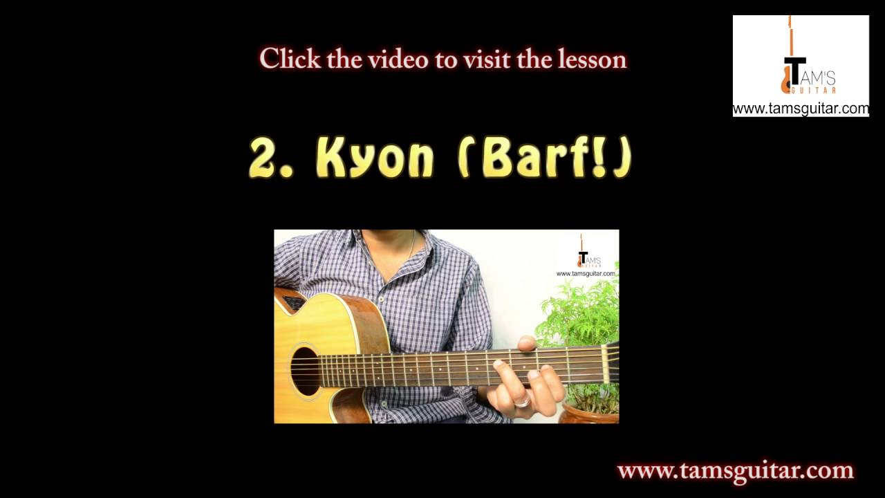 5 latest bollywood fingerstyle songs guitar lesson www.tamsguitar.com