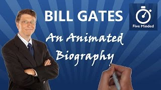 """This is my biography on Bill Gates who was born on October 28, 1955. He is one of the world's richest people and perhaps the most successful businessman ever. He co-founded Microsoft and turned it into the world's largest software company. He is the best-known entrepreneur of the PC revolution. He has also written two best-selling books and started his own charity with his wife.**BOOKS MENTIONED IN THE VIDEO**Bill Gates, A Biography: http://amzn.to/2bfG5KXThe Road Ahead: http://amzn.to/2bPYImk Business @ The Speed of Thought: http://amzn.to/2bhuZqVWhiteboard Software I use to make my Videos: http://www.sparkol.com?aid=983244Facebook: https://www.facebook.com/5ivemindedTwitter: https://twitter.com/fivemindedALL AUDIO IN THIS VIDEO IS COURTESY OF:Sean Banvillehttp://www.BreakingNewsEnglish.com-~-~~-~~~-~~-~-Please watch: """"The History of Earth Day - Animated Narration for Kids"""" https://www.youtube.com/watch?v=b6LUaGy1ChA-~-~~-~~~-~~-~-"""