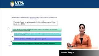UTPL CALIDAD DE AGUA [(GESTIÓN AMBIENTAL)(TECNOLOGÍAS LIMPIAS Y ALTERNATIVAS)]
