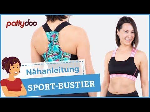 Nähanleitung Sport-BH + Tanktop aus Lycra-Stoff - schnell & einfach genäht!!!