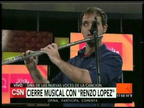 C5N – VIVA LA TARDE: CIERRE MUSICAL CON RENZO LOPEZ