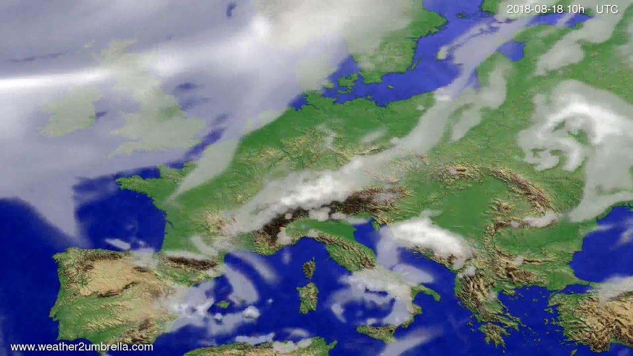 Cloud forecast Europe 2018-08-16