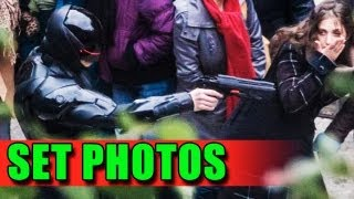 RoboCop Set Photos (2013) - New Armor